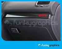 VW GOLF GTI INTERIOR DASH TRIM STICKER, DECAL, GRAPHIC x5 IN RED VINYL