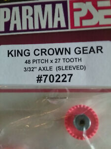 """Parma 70227 King Crown Gear 27 Tooth 48 Pitch - Sleeved For 3/32"""" Axle - Qty. 1"""