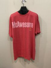 Savvy McAwesome Mcdonalds Graphic Red T Shirt Distressed XLT Extra Large Tall
