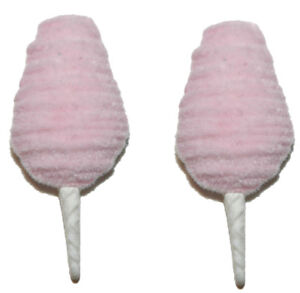 PINK COTTON CANDY STUD or CLIP ON EARRINGS (S162)