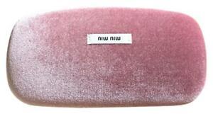 MIU MIU Pink Velour Hard Clam Hinge Case Sunglasses / Eyeglasses  Hard Case