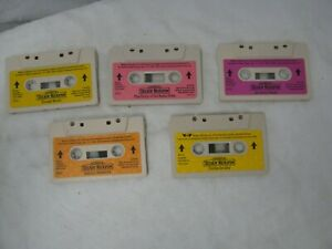 5 Teddy Ruxpin Cassettes Stories Vintage 1985-1986 Worlds of Wonder Tapes Bear