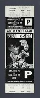 VINTAGE 1974 NFL AFC DIVISIONAL PLAYOFF DOLPHINS @ RAIDERS FULL FOOTBALL TICKET