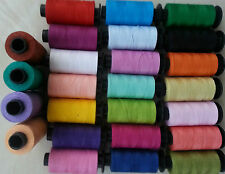 25 Large SEWING 100% PURE COTTON THREAD Spools, 25 Different Colors