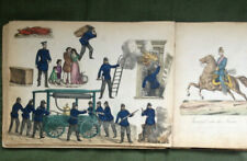 More details for 1870s german scrap album firemen, soldiers,circus. british xmas cards 4o+ pages