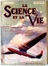 Science et vie n°250 du 4/1938;  La Naviguation dans les nuages