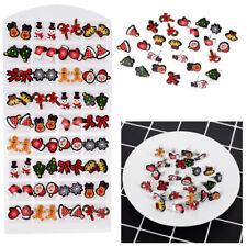 Wholesale Lot Charming Alloy Xmas Santa Claus Ear Studs Earrings Women's Jewelry