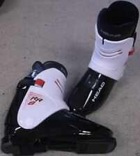 HEAD Rr8 Black / White Rear Entry Ski BOOTS Size 27 One Strap Easy in & out