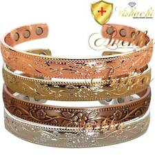 "FLORAL PURE SOLID COPPER MAGNETIC WOMEN BANGLE/BRACELET ARTHRITIS 6.75"" CB68"