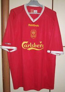 Liverpool 2001-2003 Champions League Home Football Shirt jersey reebok sz 50/52
