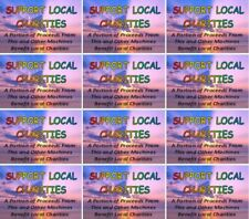 """12 Vinyl Charity VENDING Vendstar Candy Gumball labels 2 x 3.25"""" Stickers"""