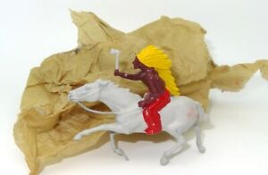 BRITAINS LATE 1940'S MOUNTED NORTH AMERICAN INDIAN - OLD/NEW STOCK - RARE