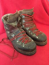 Vintage 1980 Raichle Hiking Mountaineering Leather Boots Made in Switzerland
