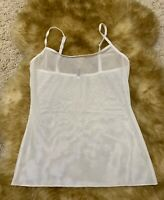 SISI intimate white mesh Camisole Top sleepwear nightwear size S