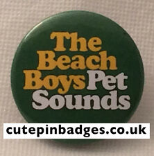 """Beach Boys Badge (25mm/1"""") Pin Button Pet Sounds Brian Wilson 1960s Psychedelia"""