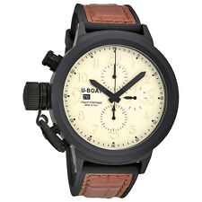 U-Boat Flightdeck Beige Dial Automatic Mens Chronograph Watch 5414