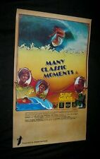 """Original Surfing Movie Poster Many Classic Moments Full Size 10 1/2"""" x 17 1/4"""""""
