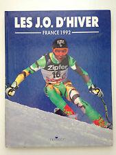 LES J.O D'HIVER FRANCE 1992 // JEUX OLYMPIQUES ALBERTVILLE 92 // ED. MESSIDOR