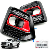 For Toyota Hilux Revo Rocco 2018 - 2019 Genuine Fog Lamp Spot Lights Cover Red