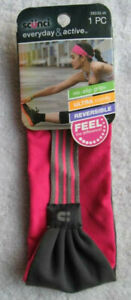 Scunci Everyday & Active Pink Gray No Slip Headwrap Wide Soft Fabric Head Band