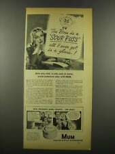 1939 Mum Deodorant Ad - The Boss is a Sour Puss