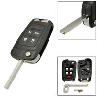 5 Buttons Flip Key Shell fit for CHEVROLET Cruze Remote Key Case Fob Replacement