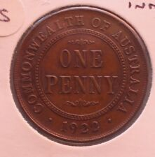 1922 Penny aUNC Indian Die Obverse Scarce
