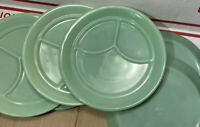 "Fire King Jadeite Green 3 Section Grill Plate 9-3/4"" Restaurant Ware MINTY"