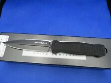 "Benchmade 133BK Fixed Infidel 4.52"" D2 Black Double Edge Dagger Blade, Black Alu"