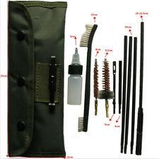 10 Pcs Rifle Gun Cleaning Kit Set Rod Nylon Brushes For 22LR 223 556 Rifle Gun