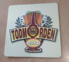 Todmorden Beer Festival Mega Rare Beer Mat Coaster Only 100 made UK Yorkshire