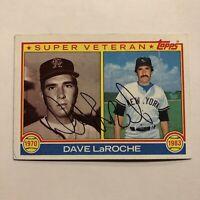 DAVE LAROCHE 1983 TOPPS AUTOGRAPHED SIGNED AUTO BASEBALL CARD 334 SUPER VET