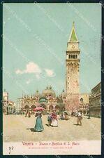 Venezia Città San Marco ABRASA cartolina XB4568