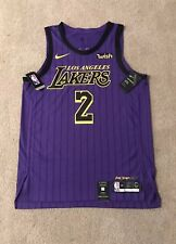 Lonzo Ball Lakers Authentic Jersey City Lore Edition Size 48 Large Nike