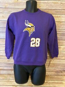 Boys Minnesota Vikings Sweatshirt Size Medium 10-12 Adrian Peterson New NWT Top