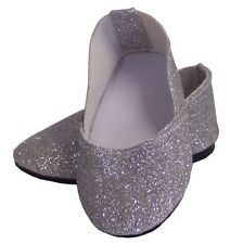 """Silver Sparkle Princess Shoes made for 18"""" American Girl Doll Clothes"""