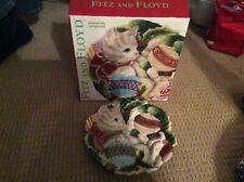 "Fitz And Floyd ""Kristmas Kitty� canapé plate"