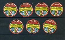 7 VINTAGE 1929  500 ANNIVERSARY GERMANY POSTER STAMPS (L818) HAMBURG