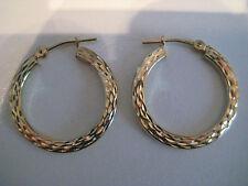 OR Boucles d'oreilles diamant taillé CREOLES 9 Carats Jaune