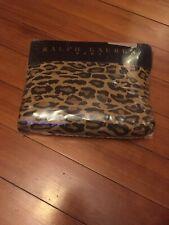 Ralph Lauren Leopard Aragon TWIN Deep Fitted Sheet 100% Cotton 200 Thread