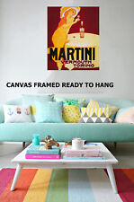 Vintage Art Print martini vermouth torino Framed painting Canvas original
