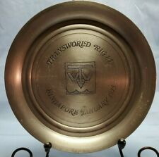 "Selangor Pewter 8"" Collector Plate ""Transworld Rig 63 Singapore January 1975"""