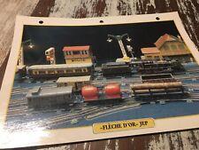 078 flêche d'or JEP 1928 jouet Fiche collection ATLAS trains de légende