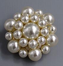 Vintage Jewelry Pearl Cluster Snowflake BROOCH PIN Rhinestone Lot T