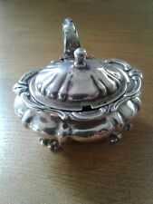 ANTIQUE SOLID STERLING SILVER MUSTARD POT LONDON 1903