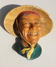 "Vintage Bosson's Chalkware Head - ""Coolie"" 1963"