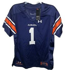 Under Armour Auburn Tigers #1 Navy Football Womens Jersey Size Large NWT