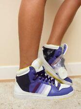 ADIDAS DECADE HI Women's Trainers purple yellow oldschool retro UK 5.5 (cm 24cm)