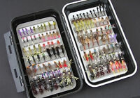 GS Fly Box (Guide Series) + Mixed Trout Flies Wet Dry Nymph Buzzers 10 25 50 100