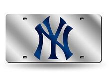 New York Yankees License Plate Mirrored Acrylic